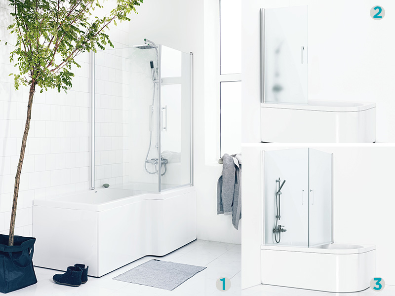 Stor Dusjbadekar – en plassbesparende løsning | Bademiljø PU-54